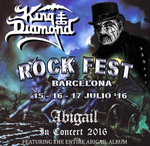 King Diamond Abigail poster Rock Fest